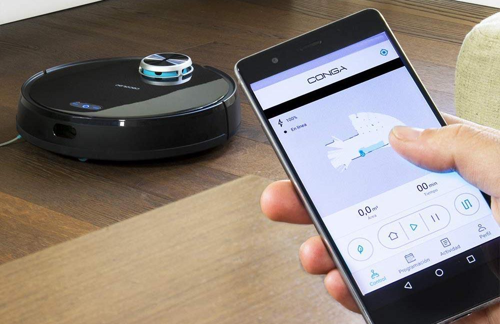 Robots aspiradores: Control app